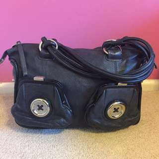 MIMCO Button Bag Black