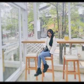 韓國氣質感白襯衫