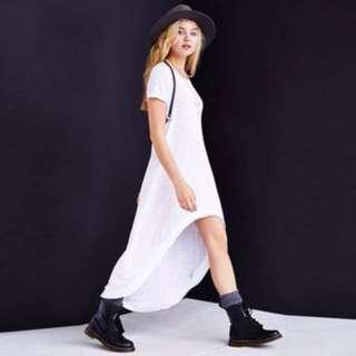 White Long Tail Dress
