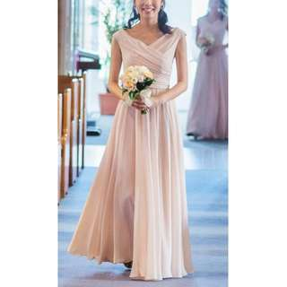 Chiffon Bridesmaid Dresses (Colour: Shell)