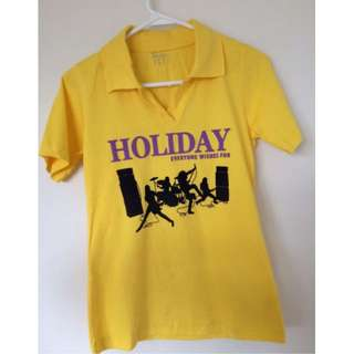 Yellow sport short sleeves T-shirt size 10