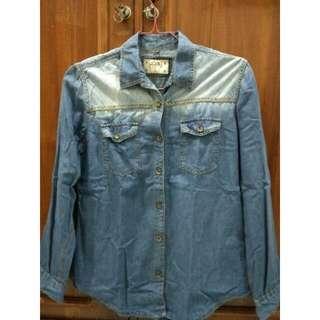 [Sale] Kemaja Jeans Localbrand