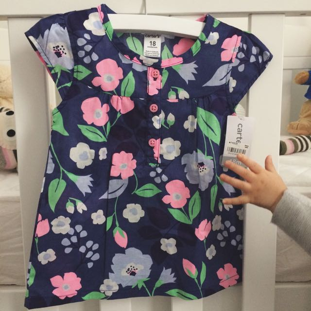 18 mths - Carter's Floral Shirt