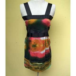 SPACE Color-block Dress