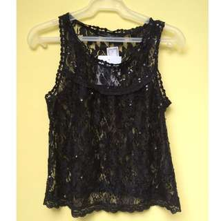 New with Tag KAMISETA Lace Top with sequins