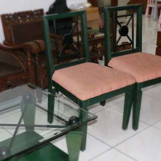 Coffee Table, 2 Chairs, Standing Light, Small Mirror Cupboard