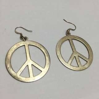 Vintage Peace Earrings 復古和平耳環