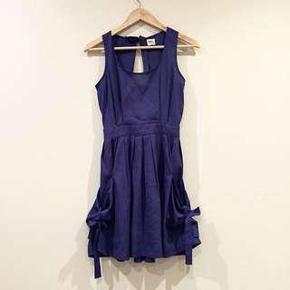 *Birds Of A Feather* Blue Bow Dress Size 8