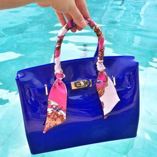 Jelly Beachkin Bag In Birkin Style