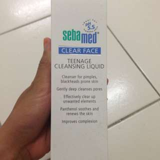 Sebamed Teenage Cleasing Liquid.