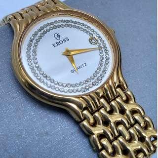 Eross 23K Gold Plated Quartz Automatic Men Watch