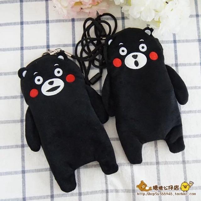 日本熊本熊手機悠遊卡包