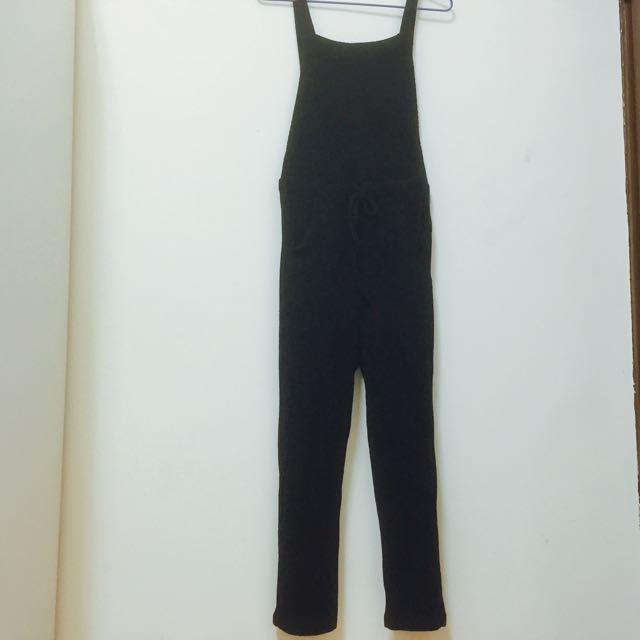 針織吊帶褲