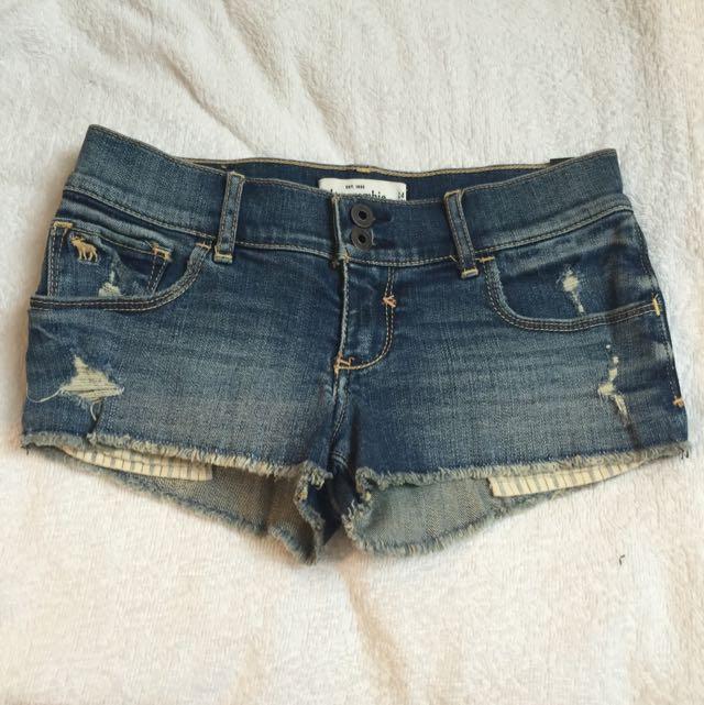 Abercrombie Kids 超短牛仔褲 (14號)