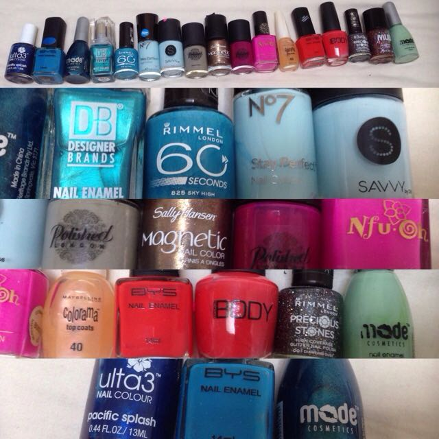 Assorted Brands Of Nail Polish