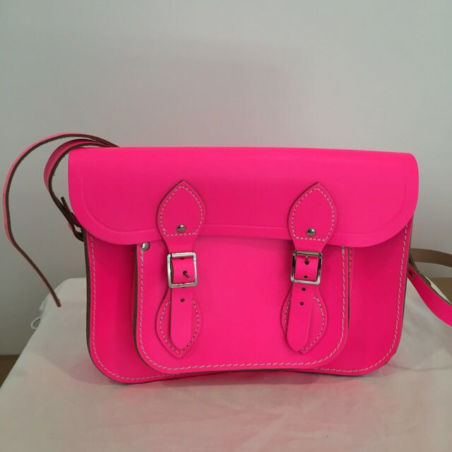 Authentic Cambridge Satchel Company In Neon Pink