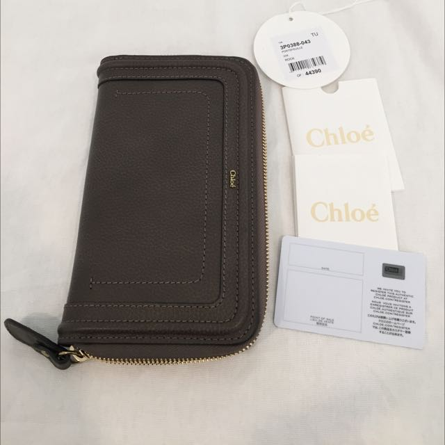 Authentic Chloe Marcie Wallet In Rock