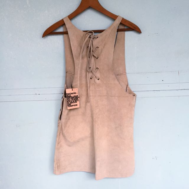 BNWT One Teaspoon Leather Dress/pinafore
