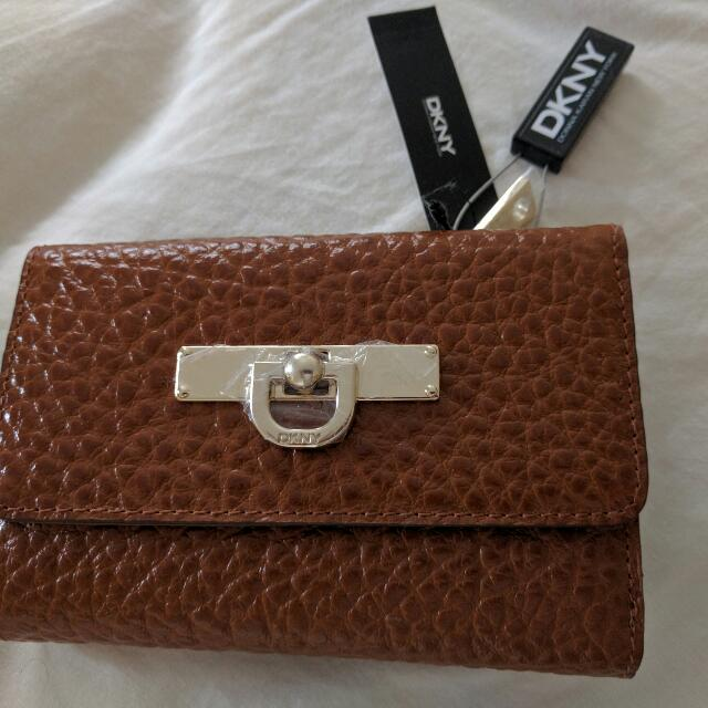 Brand new authentic DKNY genuine leather wallet
