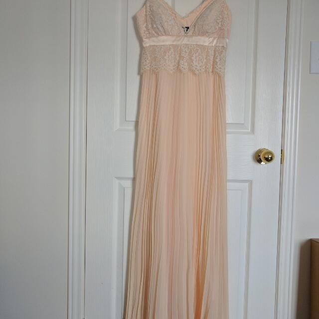Brand new BCBG silk evening gown,  size 4