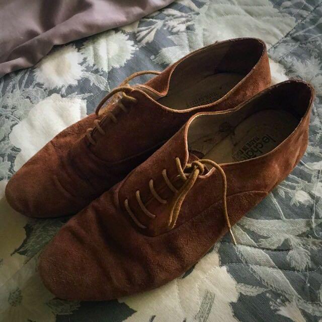 Camel Suede Shoes