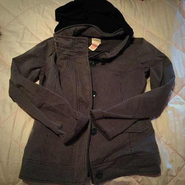 Candie's Grey Jacket with Optional Cotton Hood (medium)