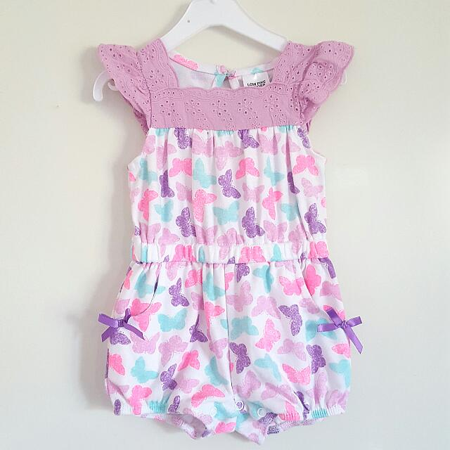 (Reserved) Cute Lavender Playsuit (3-6mos)