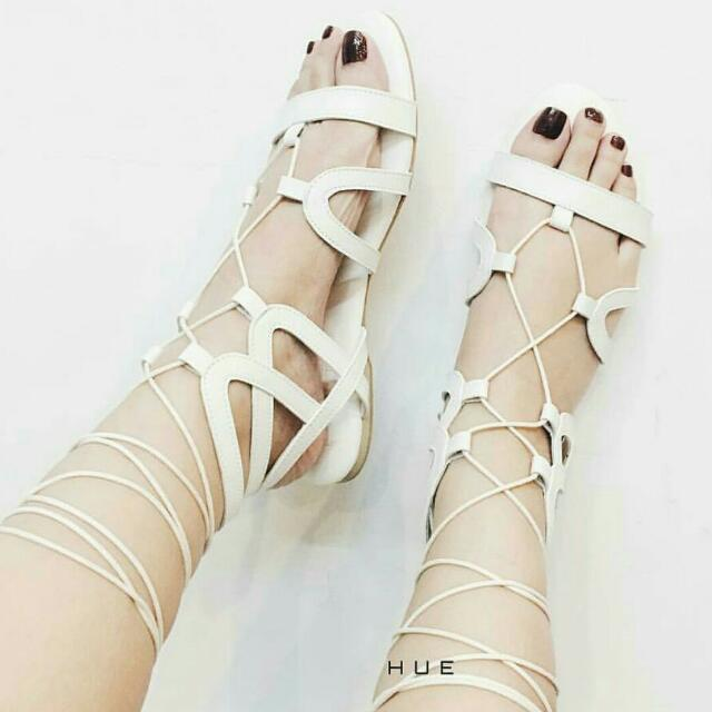 Cute White Strap Shoes