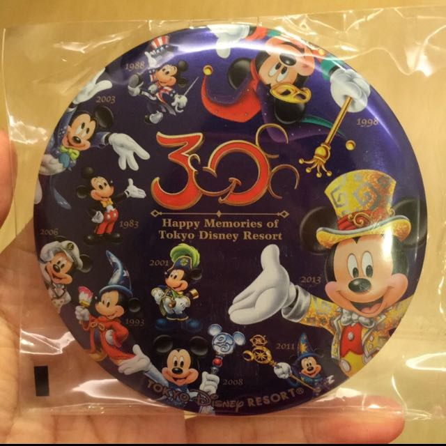 Disney 迪士尼 30週年 紀念大別針