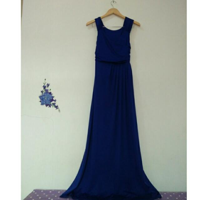 Electric Blue Maxi Dress [FREE OUTER]