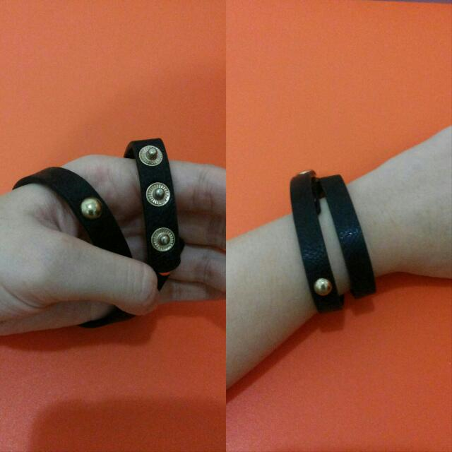 Gelang Black Leather
