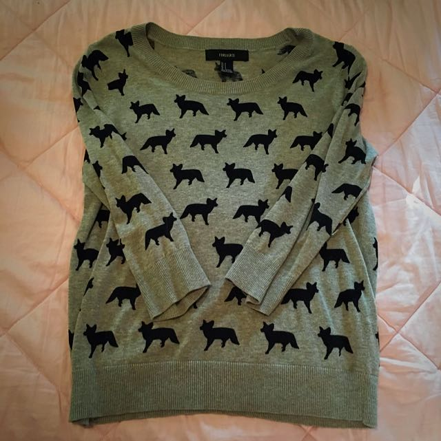 Grey Fox Sweater (Forever 21)