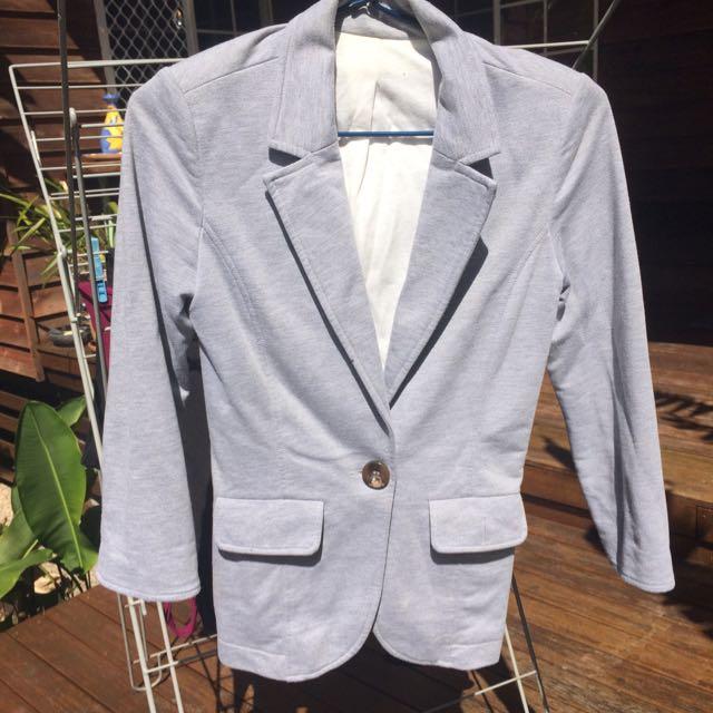 Grey Blazer Size Small