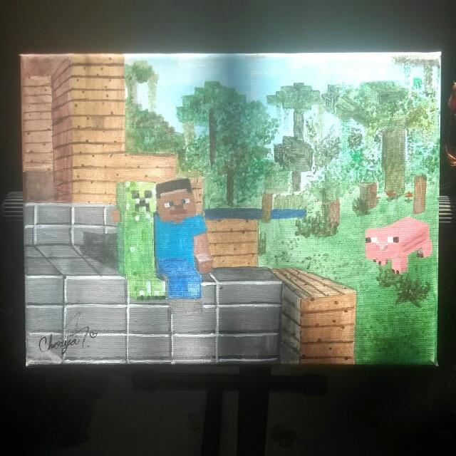 Hand Painted Minecraft Picture