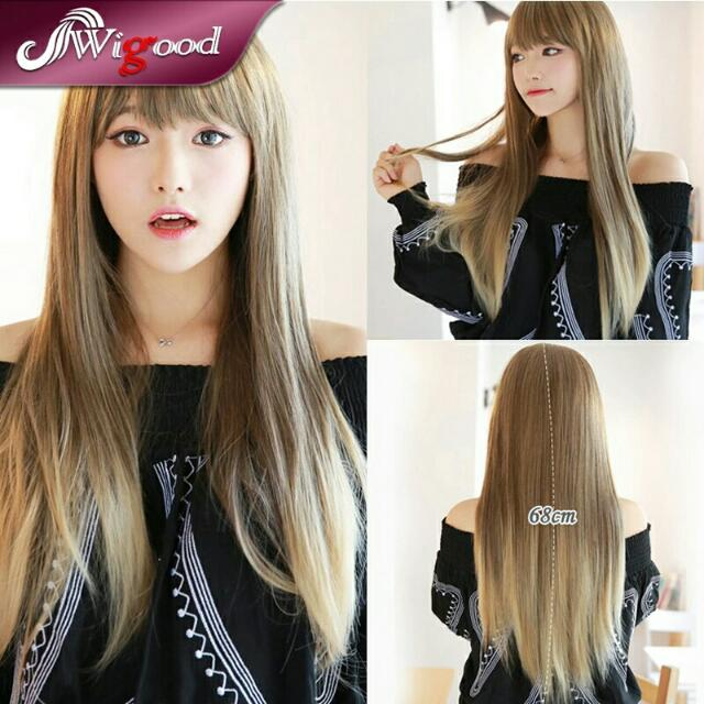 Brown To Blonde Ombre Long Straight Hair
