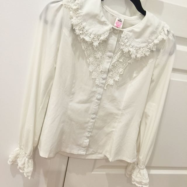 Infanta Lolita Kawaii Collar Long sleeve Blouse