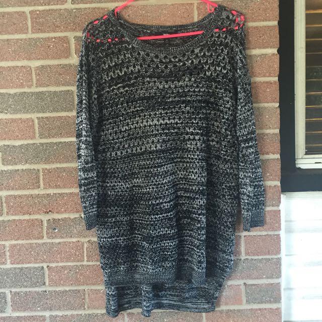 Long Hi-Low Holy Sweater