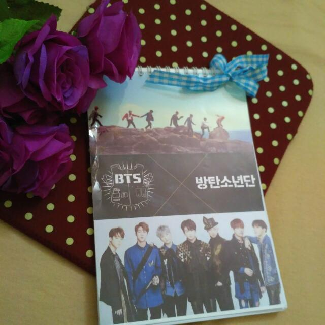 Personal Scedule Book Or Note - BTS Cover (Cover Bisa Reques)