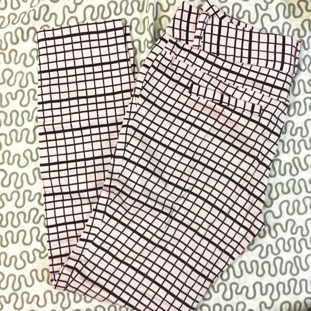 Pink Grid Trousers