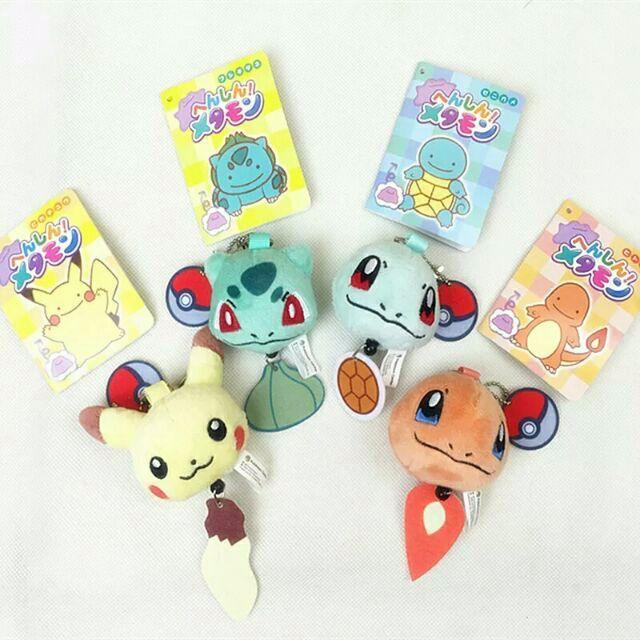 【現貨】限量Pokemon神奇寶貝皮卡丘/傑尼龜/小火龍 伸縮鑰匙圈