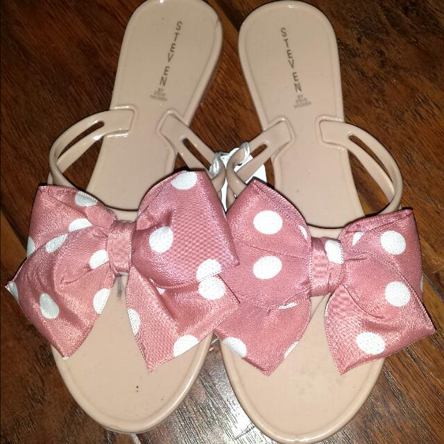 Polka Dot Bow Tie Slippers