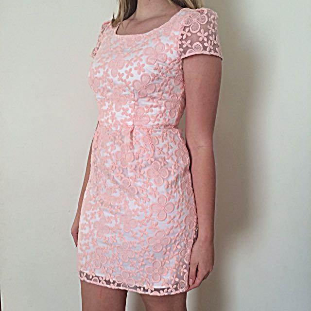 Portmans Pink Floral Dress Size 12