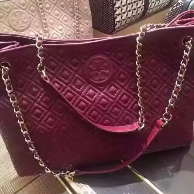 82b6ce2946c Tory Burch Marion Quilted Chain Shoulder Bag - Best Quilt Grafimage.co
