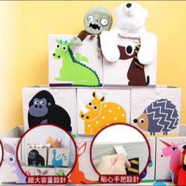 超Q動物方型收納箱