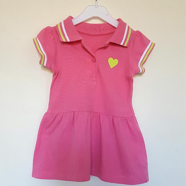 (Reserved) Sporty Polo Shirt Dress (0-3mos)
