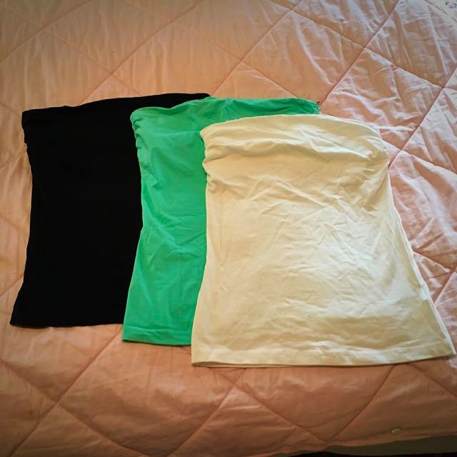 Strapless Cotton Tops (3)