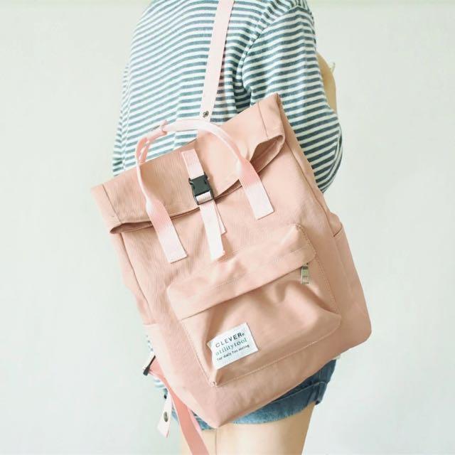 💦韓國4色uzzang少女原宿風手提背包後背包雙肩