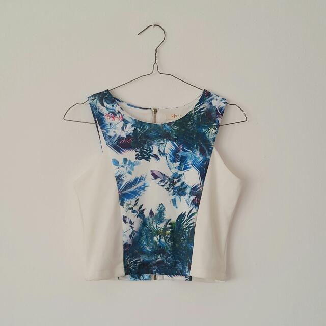 V Crop Top By Yuan Clothing