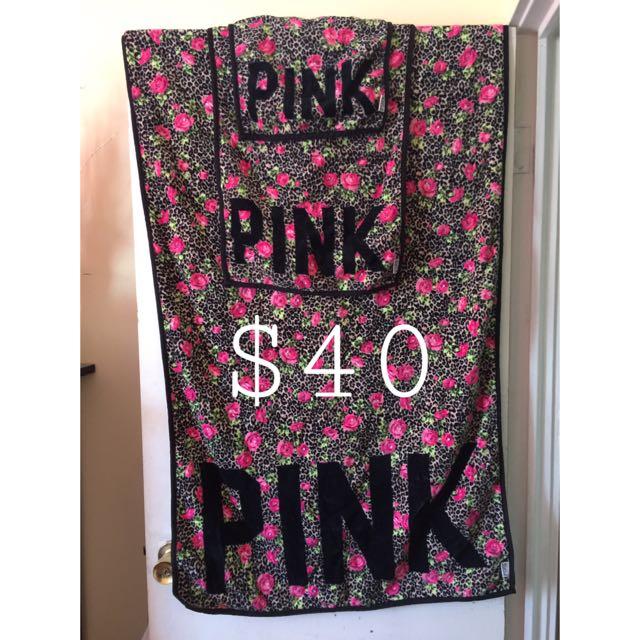 Victoria's Secret PINK Towel Set