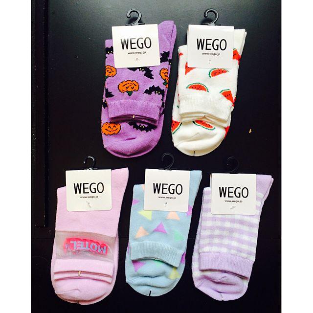 日本原宿系品牌Wego正版少女可愛多款短襪 萬聖/水果/幾合/格子/透膚
